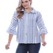 Plus Size Parsley & Sage Stripe Shirt