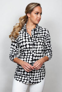 Sno Skins Black and White Button Shirt