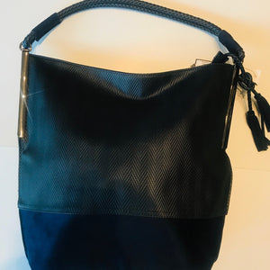 Sondra Roberts Hobo Textured With Suede Bottom Purse