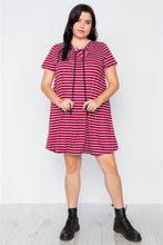 Load image into Gallery viewer, AMA Hooded Shirt Mini Dress