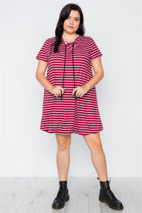 AMA Hooded Shirt Mini Dress