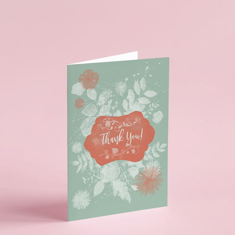 Thank You | Teal | Greeting Card