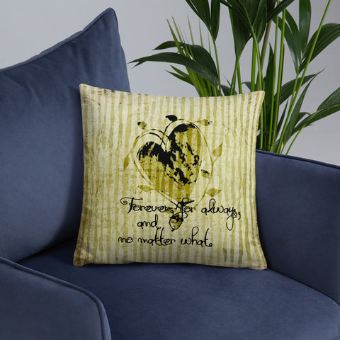 Forever and Always | Heart and Vines | Throw Pillow