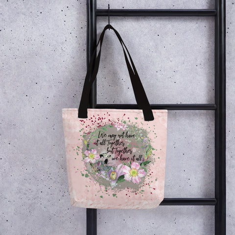 Together We Have It All | Dogwood Blossoms | Tote Bag