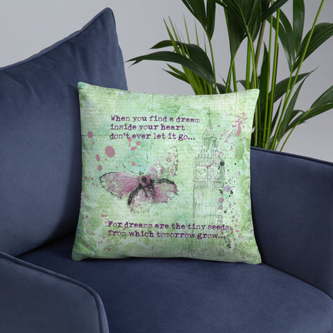 When you find a dream | Lilac Butterfly | Throw Pillow