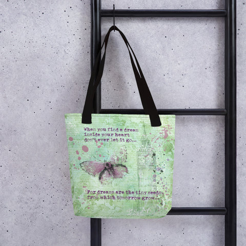 When you find a dream | Lilac Butterfly | Tote bag