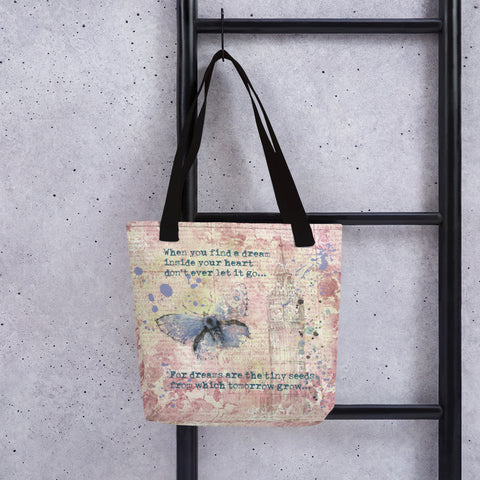 When you find a dream | Blue Butterfly | Tote Bag