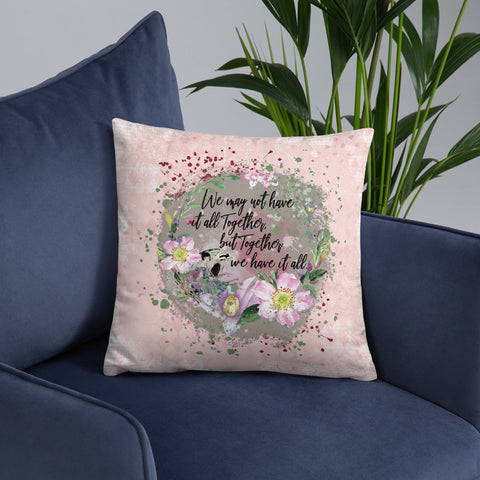 Together We Have It All | Dogwood Blossoms | Throw Pillow