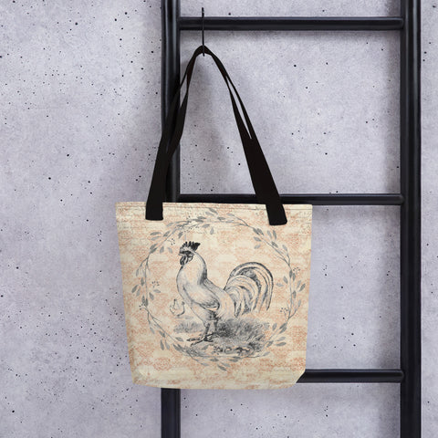 Rooster and Hens | Barnyard | Tote Bag