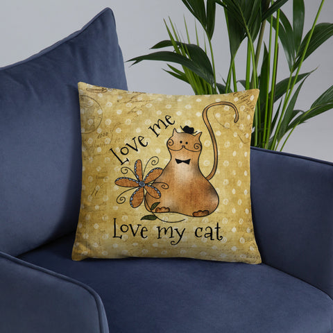Love Me | Love My Cat | Throw Pillow