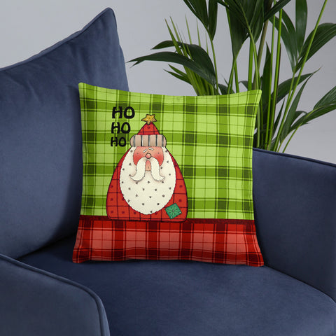Christmas Ho Ho Ho Santa | Throw Pillow