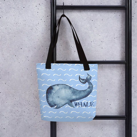 Whale in the Ocean | Nautical | Tote Bag