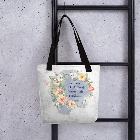 The Love of a Family | Pink Roses | Tote Bag
