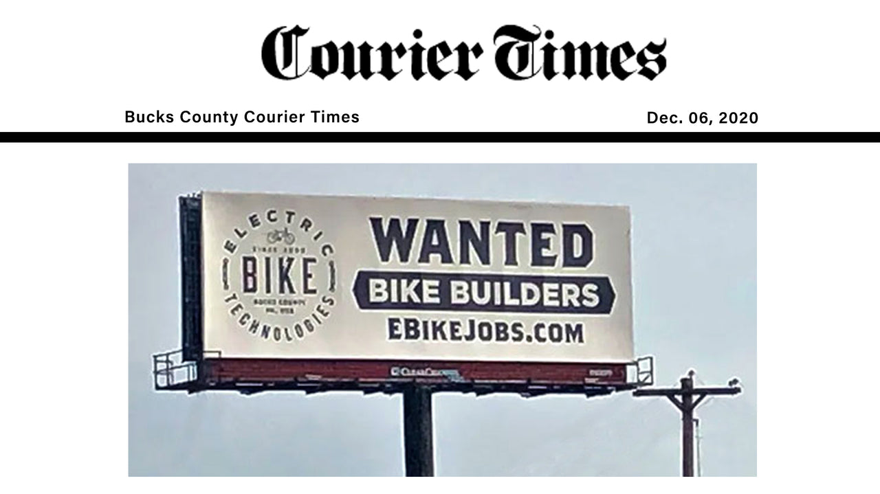 Help Wanted: Bike Builders – Electric Bike Technologies