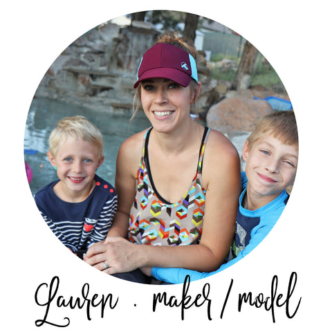 hat make and model lauren with her kids
