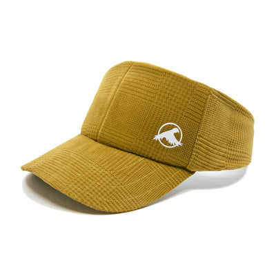 courduroy hat, visor, beach visor, 80s visor, yellow, unique