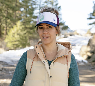 tahoe visor, tahoe trucker hat, girl hiker