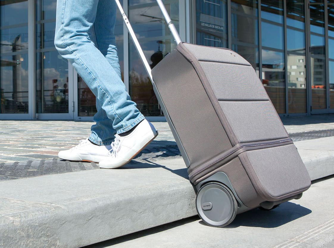 Carry-on with silent wheels