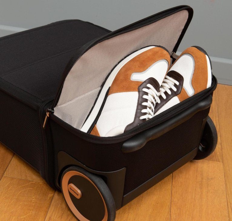 The only luggage with shoe compartment