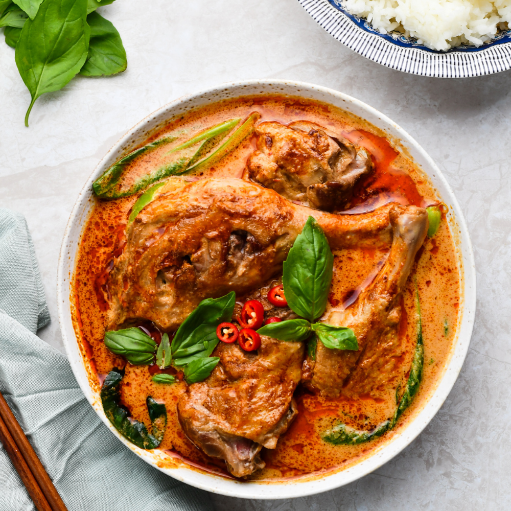 Duck Curry with Choy Sum
