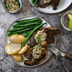 Lamb Chump Chops with Anchovy Butter