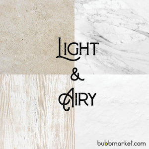 Light & Airy Photography Backdrop Set of 4