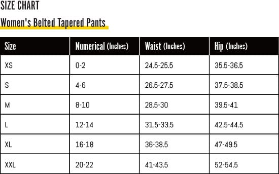 Amber Women's Belted Tapered Pants