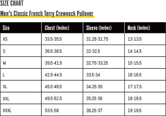 Nocturnal Men's Classic French Terry Crewneck Pullover