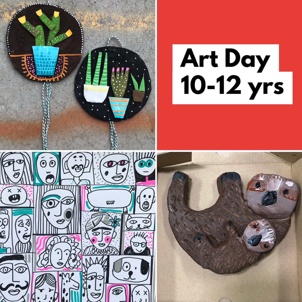 Wed 8th July - 9.30-2.15pm- Art Day - 10-12yrs - rawart.com.au