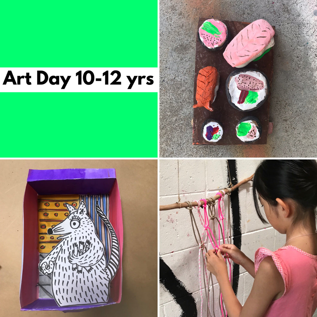Wed 22nd Jan - 10.45-3.30pm  - Art Day - 10-12yrs