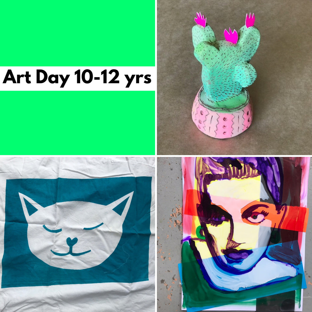 Wed 8th Jan - 10.45-3.30pm  - Art Day - 10-12yrs