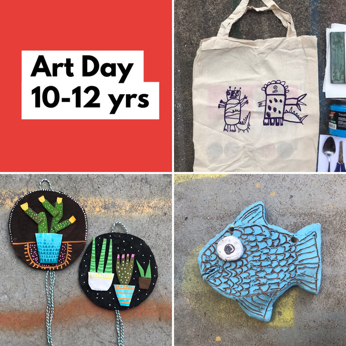 Thurs 9th April - 10.45 - 3.30pm- Art Day - 10-12yrs