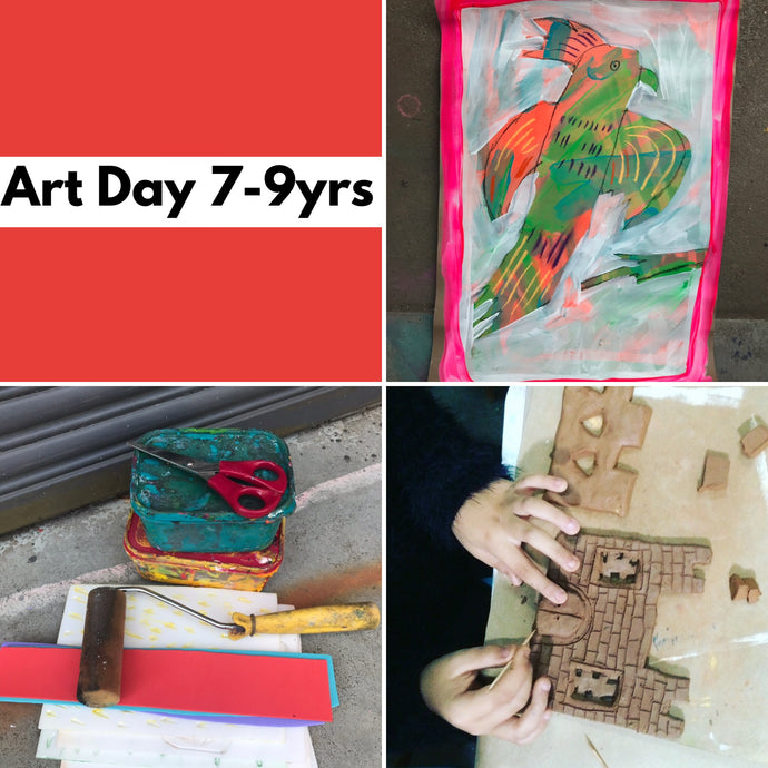 Wed 1st Jan - 10.45-3.30pm  - Art Day - 7-9yrs