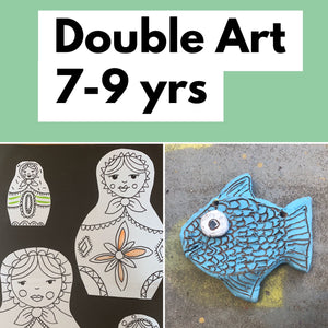 Thurs 2nd July- 10.45 - 1.45pm - Double Art - 7-9yrs - rawart.com.au