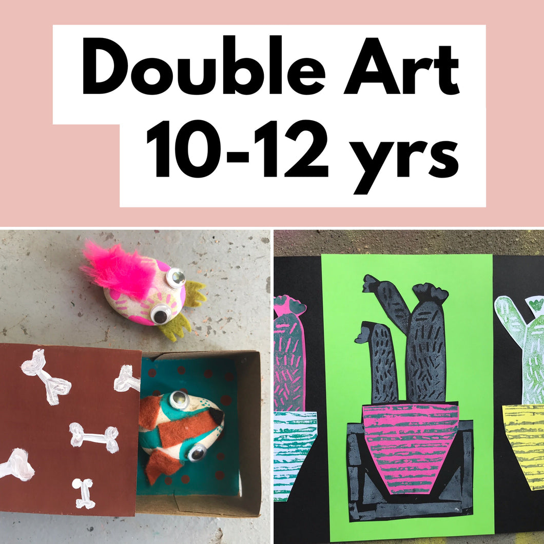 THurs 19th Dec - 12.30-3.30pm  - Double Art - 10-12yrs