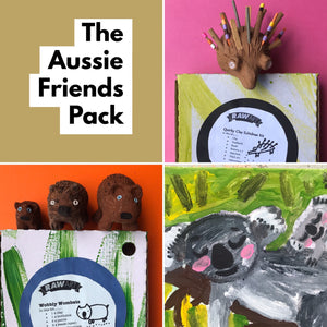 The Aussie Friends Pack - rawart.com.au