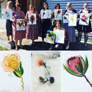 Watercolour Australian Botanicals with Julia. Sat 6 June 12.30-3.30pm