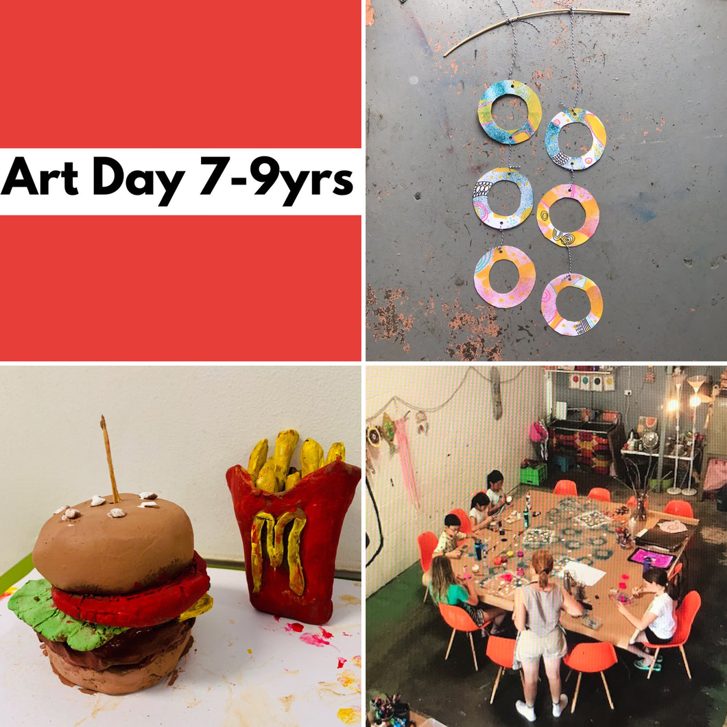 Wed 8th Jan - 10.45-3.30pm  - Art Day - 7-9yrs