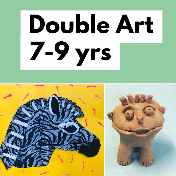 Wed 8th July -  12.30-3.30 - Double Art - 7-9yrs - rawart.com.au