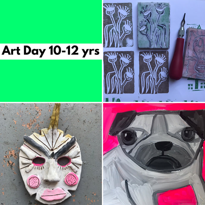 WEd 8th Jan - 12.30-3.30  - ART DAY  - 10-12yrs