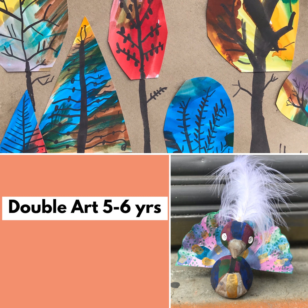 Tues 7th July -9.00am - 12.00 -  DOUBLE ART - 5-6yrs - rawart.com.au