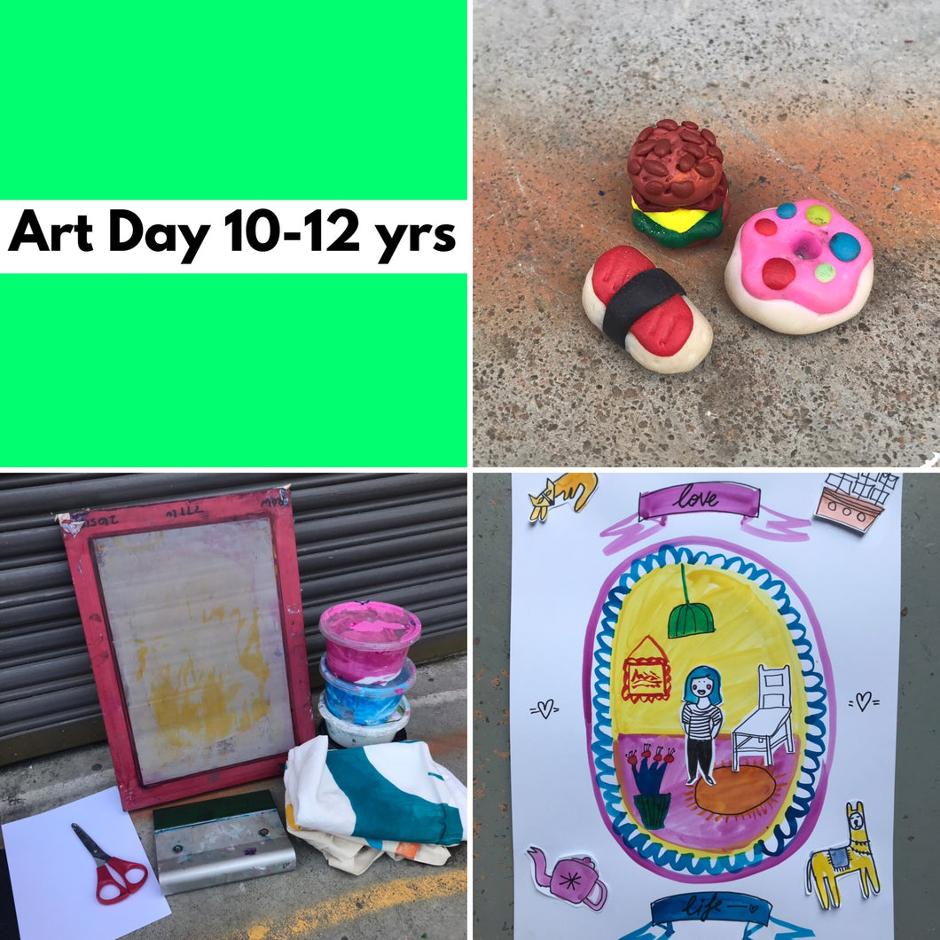 Wed 18th Dec - 10.45-3.30pm  - Art Day - 10-12yrs