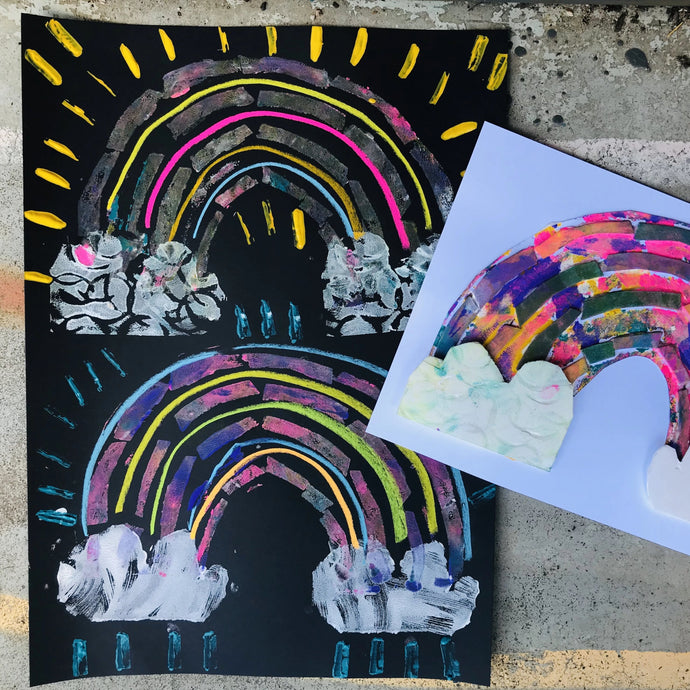 Thurs 9th July -10.45am - 12.00 - Rainbow Prints - 5-6yrs - rawart.com.au