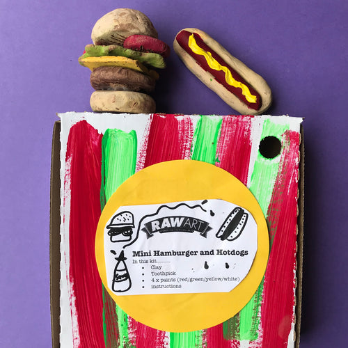 Mini Hamburger and Hotdog - rawart.com.au