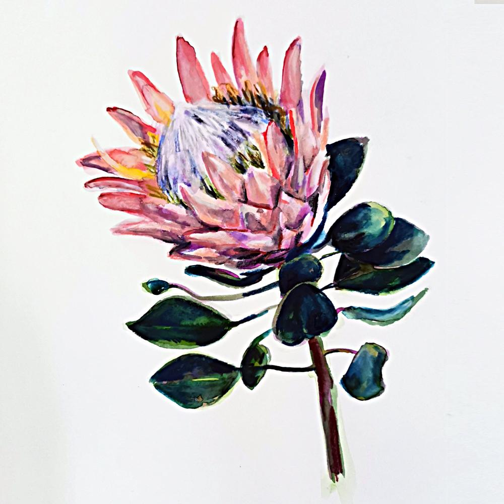 Julia Fuglsang watercolour Brisbane, Workshop, Raw Art, West End