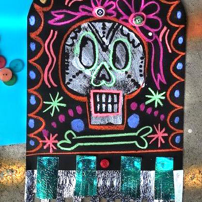MIX MEDIA MEXICAN SKULLS DIY KIT - Year 5/6 - rawart.com.au