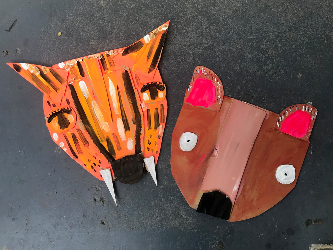 Tuesday 24 September: 10.45am-12pm.  Age 5-6yrs  - ANIMAL MASKS