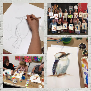 Watercolour Birds with Julia: Sat 25 July 12.30-3.30pm - rawart.com.au