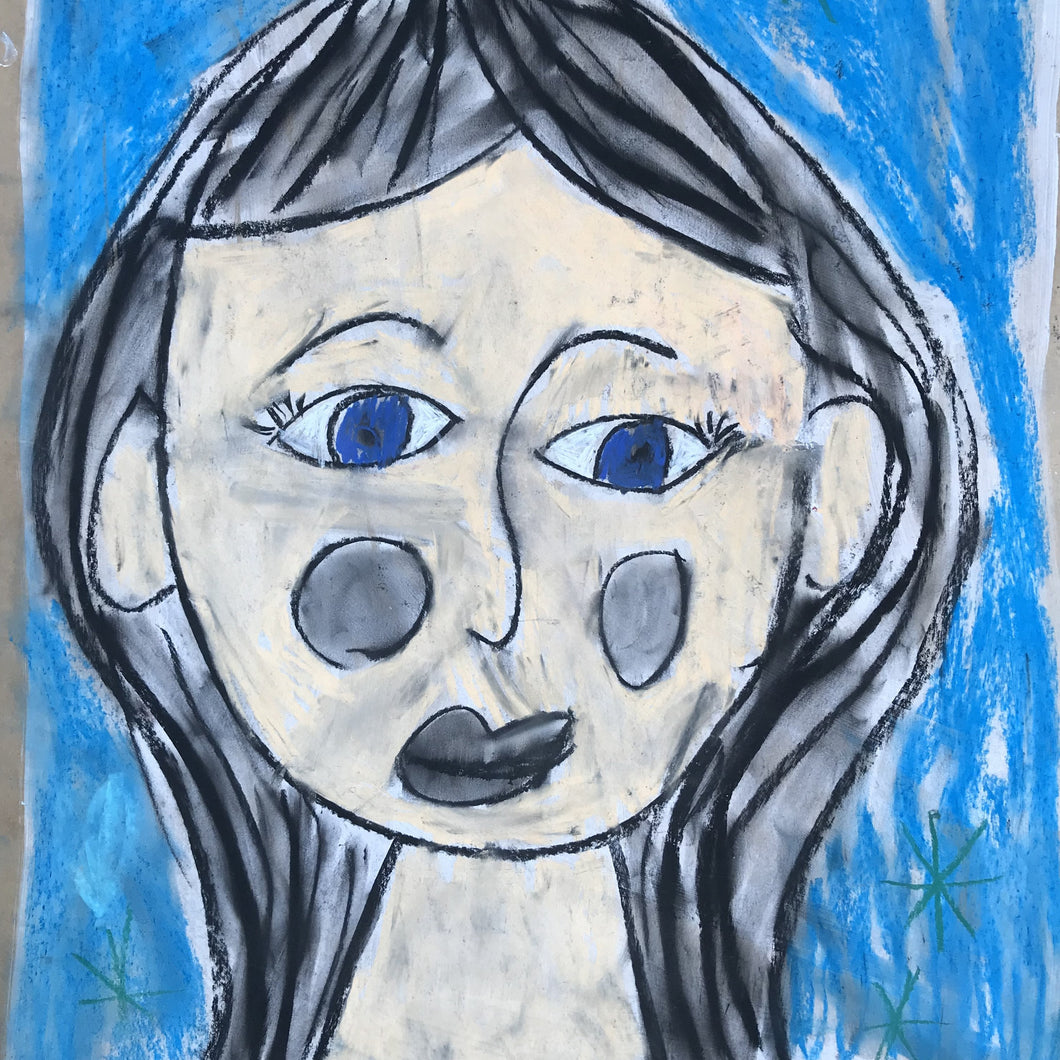 CHARCOAL FACES DIY KIT - Year 1/2 - rawart.com.au