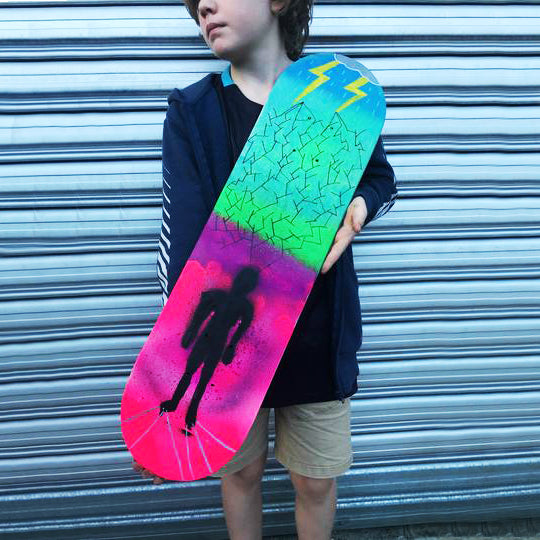 Kids art classes West End Brisbane. Holiday art Program for children. Creative workshops for kids. School holiday art activities. Children's art classes West End art studio. Kids holiday activities. Skate Deck Art.